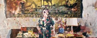 Adrian Ghenie, Pie Fight Interior 8 (2012), oil on canvas, 301 x 280.7 cm (image © the artist)